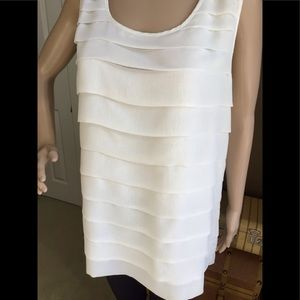 Sleeveless Cream Layered Blouse Thanx Collection